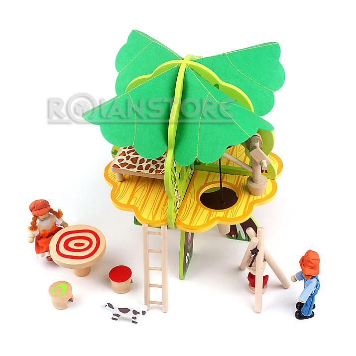 casa en el arbol juguete didctico de madera para nios