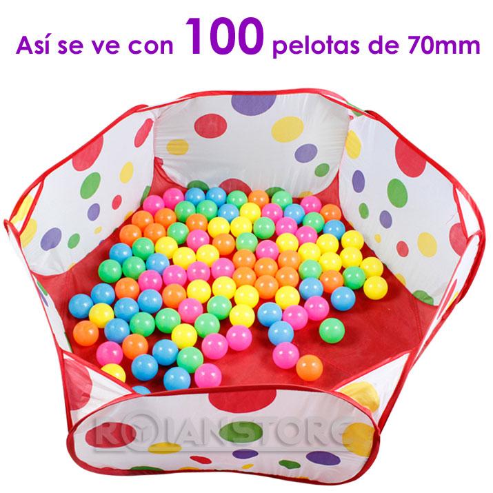 Piscina de tela para pelotas de 120cm de di metro 2 ni os for Pelotas para piscina