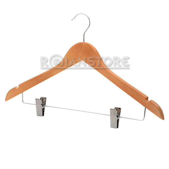 colgador madera con ganchos met licos para falda pantal n