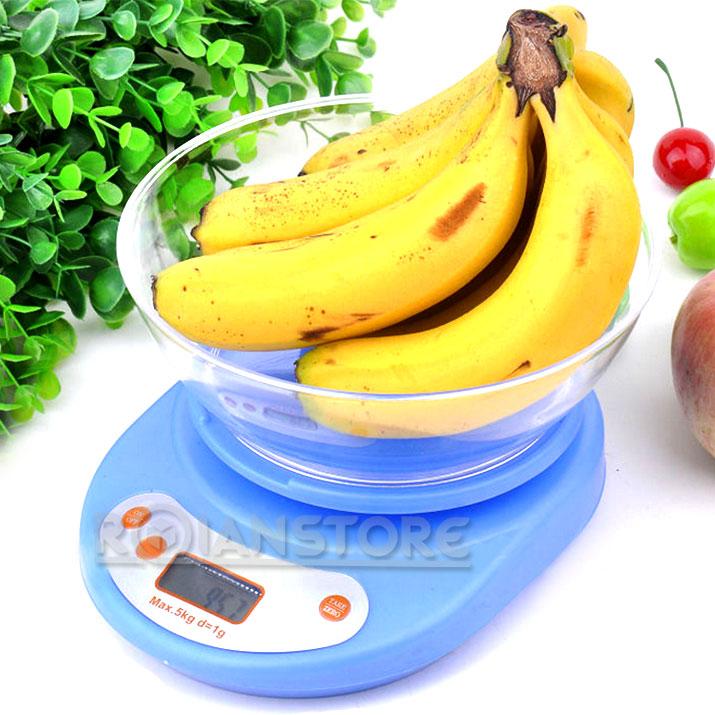 Oferta balanza digital de cocina con recipiente 1gr a 5kg - Balanza cocina digital ...